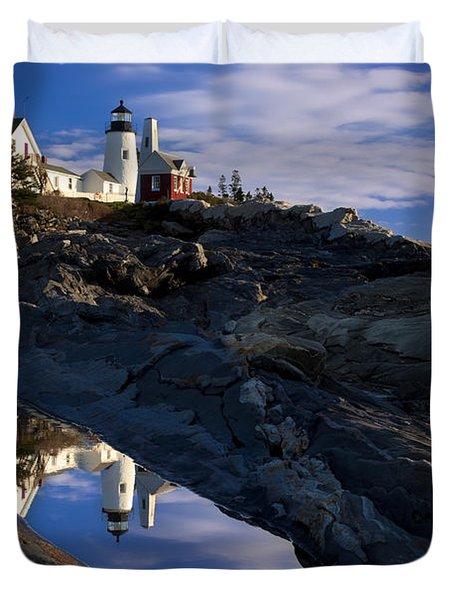 Pemaquid Point Lighthouse Duvet Cover by Brian Jannsen