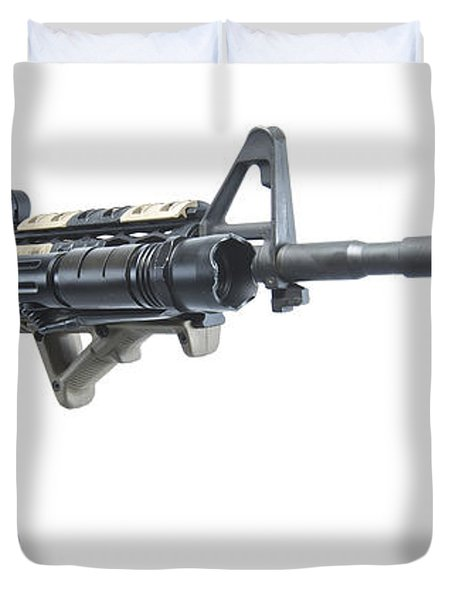 Rock River Arms Ar-15 Rifle Equipped Duvet Cover by Terry Moore