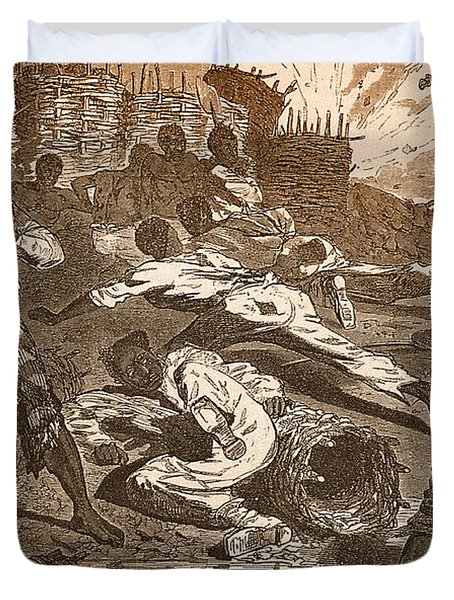 Siege Of Vicksburg, 1863 Duvet Cover by Photo Researchers