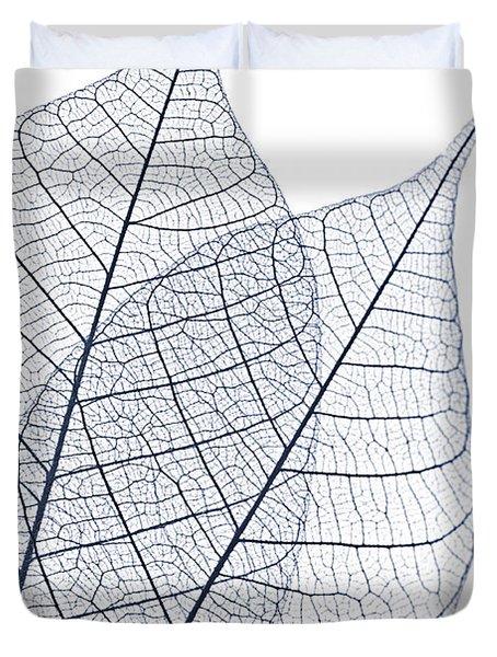 Skeleton Leaves Duvet Cover by Elena Elisseeva