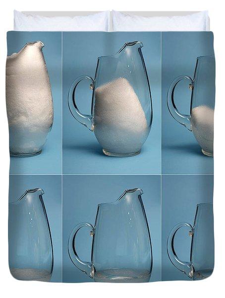 Snow Melting Duvet Cover by Ted Kinsman