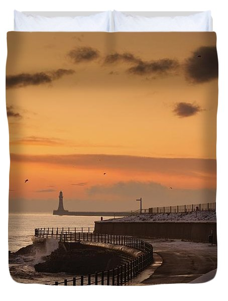 Sunderland, Tyne And Wear, England A Duvet Cover by John Short