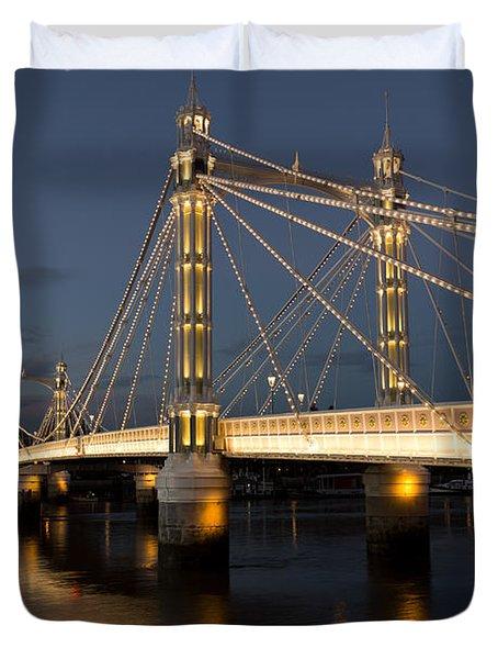 The Albert Bridge London Duvet Cover by David Pyatt