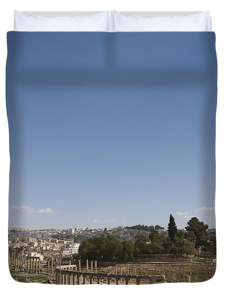 The Oval Plaza In The Ruins Duvet Cover