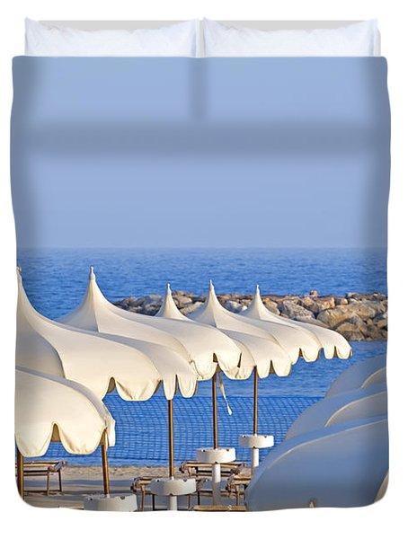 Umbrellas In The Sun Duvet Cover