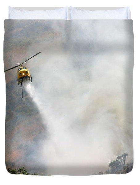 Barnett Fire Duvet Cover by Henrik Lehnerer