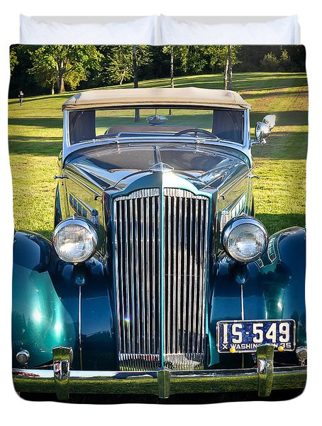 Duvet Cover featuring the photograph '35 Packard by Ronda Broatch