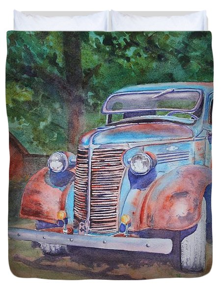 '38 Chevy Duvet Cover
