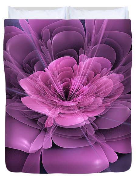 3d Flower Duvet Cover by John Edwards