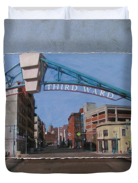 3rd Ward Entry Layered Duvet Cover by Anita Burgermeister