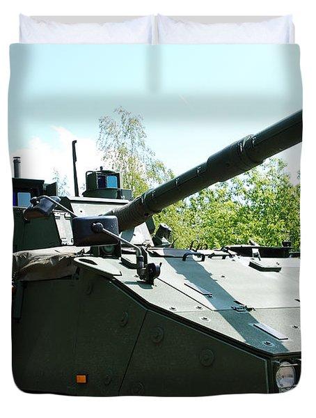 A Belgian Army Piranha IIic Duvet Cover by Luc De Jaeger