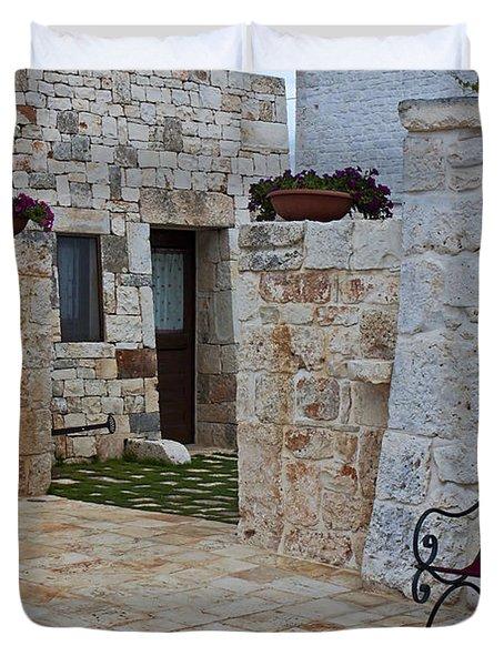 Alberobello - Apulia Duvet Cover by Joana Kruse
