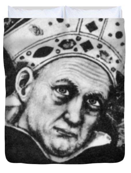 Albertus Magnus, Medieval Philosopher Duvet Cover by Science Source