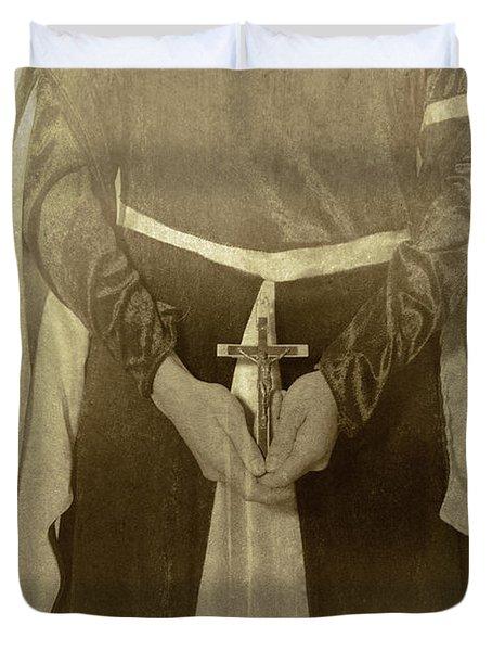 Crucifix Duvet Cover by Joana Kruse