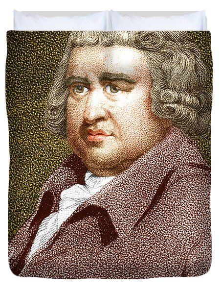 Erasmus Darwin, English Polymath Duvet Cover by Science Source