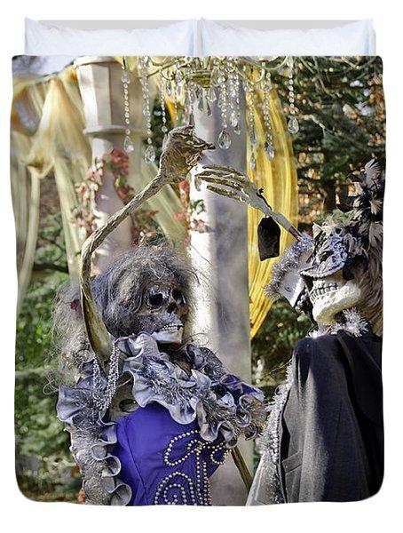 Fall  Halloween On Tillson Street Duvet Cover by LeeAnn McLaneGoetz McLaneGoetzStudioLLCcom