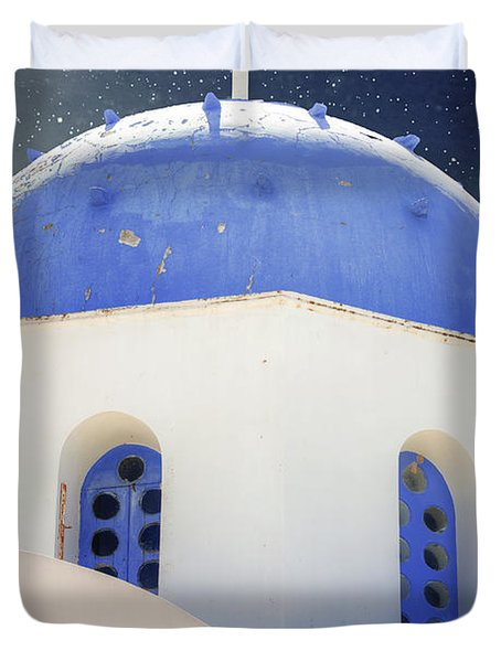 Greek Chapel Duvet Cover by Joana Kruse