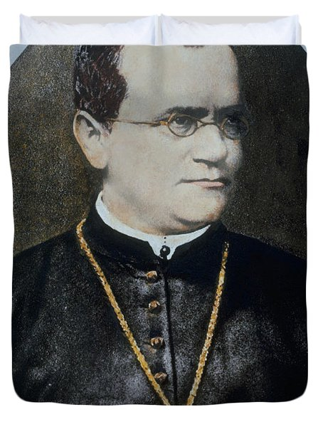 Gregor Mendel, Father Of Genetics Duvet Cover by Science Source