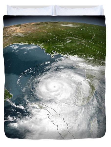 Hurricane Dennis Duvet Cover
