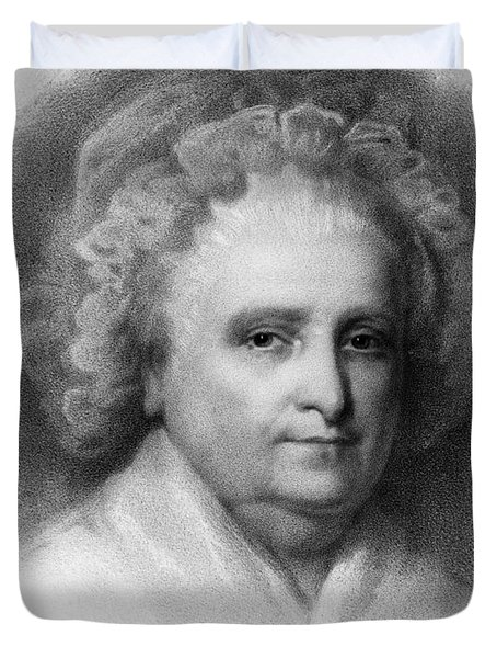 Martha Washington, American Patriot Duvet Cover by Photo Researchers