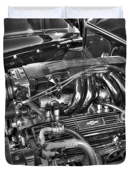 Duvet Cover featuring the photograph 48 Chevy Block by Anthony Wilkening