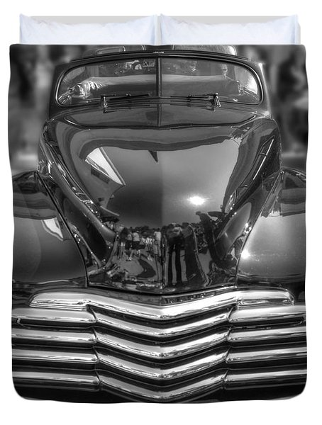 Duvet Cover featuring the photograph 48 Chevy Convertible by Anthony Wilkening
