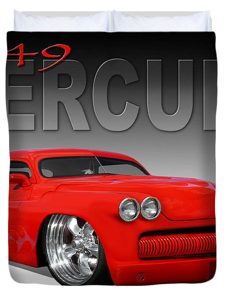 49 Mercury Coupe Duvet Cover by Mike McGlothlen