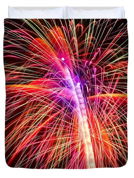 4th Of July - Independence Day Fireworks Duvet Cover by Gordon Dean II