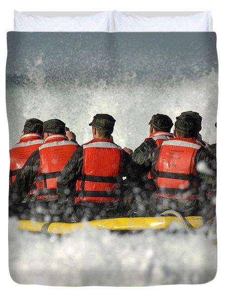 Basic Underwater Demolitionseal Duvet Cover by Stocktrek Images