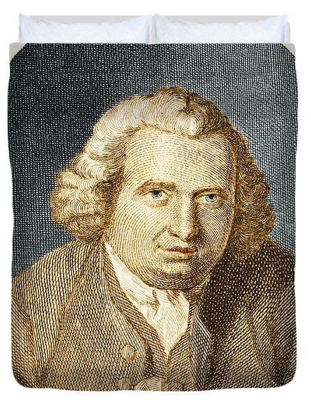 Erasmus Darwin, English Polymath Duvet Cover by Science Source