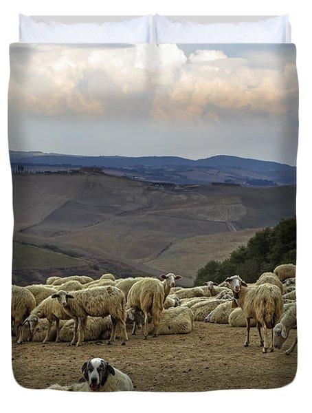 Flock Of Sheep Duvet Cover by Joana Kruse