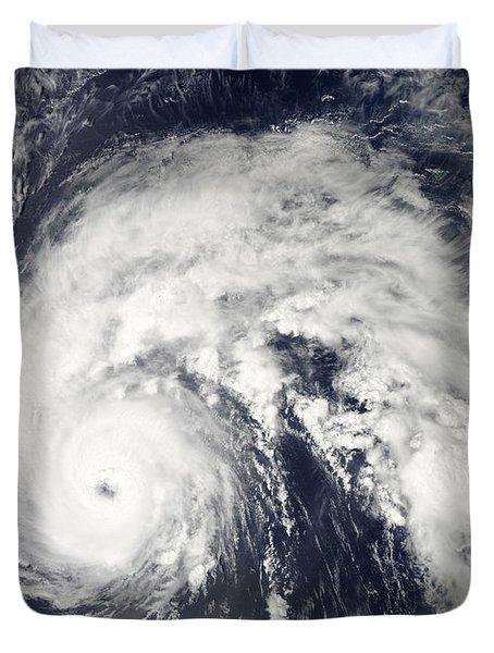 Hurricane Earl Duvet Cover