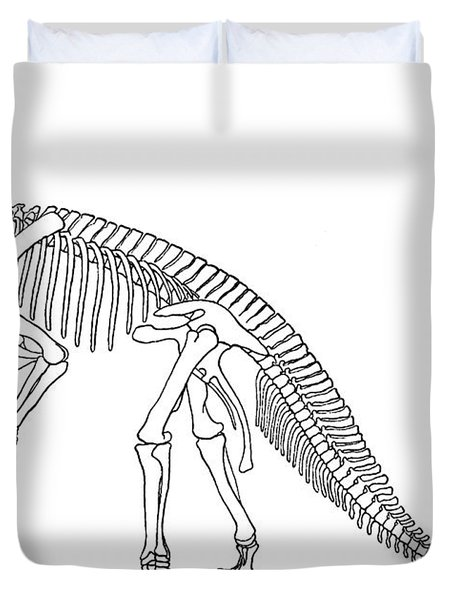 Iguanodon, Mesozoic Dinosaur Duvet Cover by Science Source