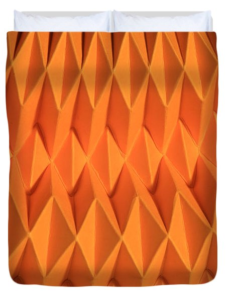 Mathematical Origami Duvet Cover by Ted Kinsman