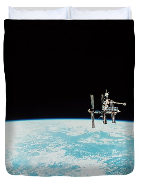 Mir Space Station Duvet Cover by Nasa