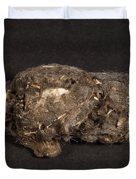 Owl Pellet Duvet Cover by Ted Kinsman