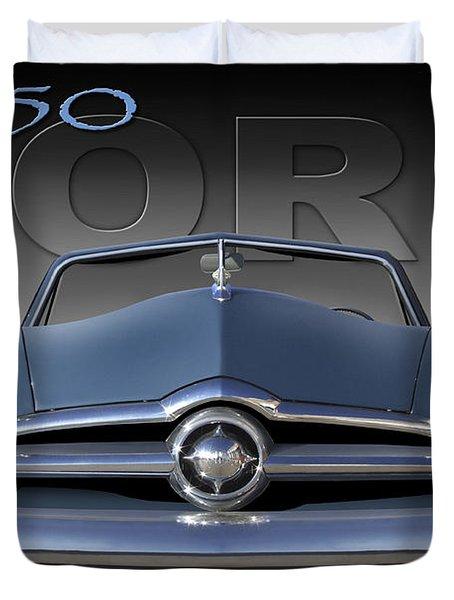 50 Ford Custom Convertible Duvet Cover by Mike McGlothlen