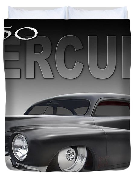 50 Mercury Coupe Duvet Cover by Mike McGlothlen