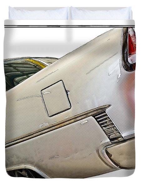 '55 Chevy Duvet Cover by Susan Leggett