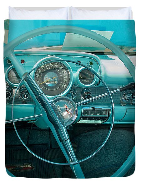 57 Chevy Bel Air Interior 2 Duvet Cover