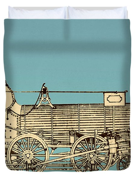 19th Century Locomotive Duvet Cover by Omikron