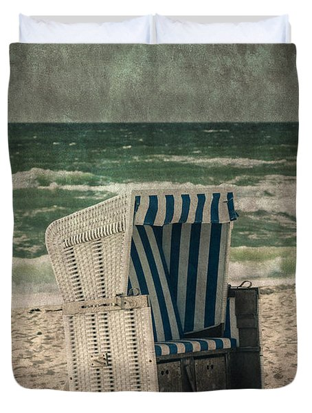 Beach Chair Duvet Cover by Joana Kruse