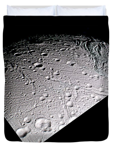 Enceladus Surface Duvet Cover by NASA / Science Source
