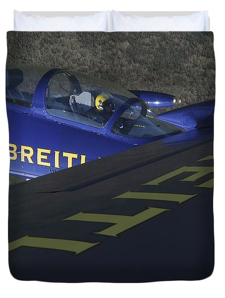 Flying With The Aero L-39 Albatros Duvet Cover by Daniel Karlsson