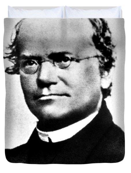 Gregor Mendel, Father Of Genetics Duvet Cover by Science Source