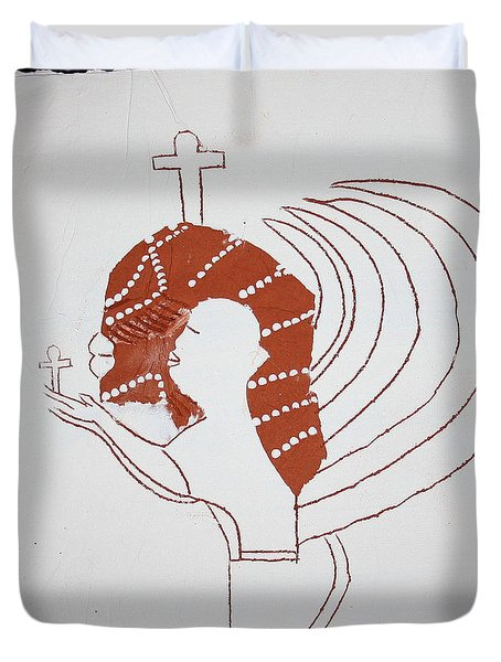 Guardian Angel Duvet Cover by Gloria Ssali