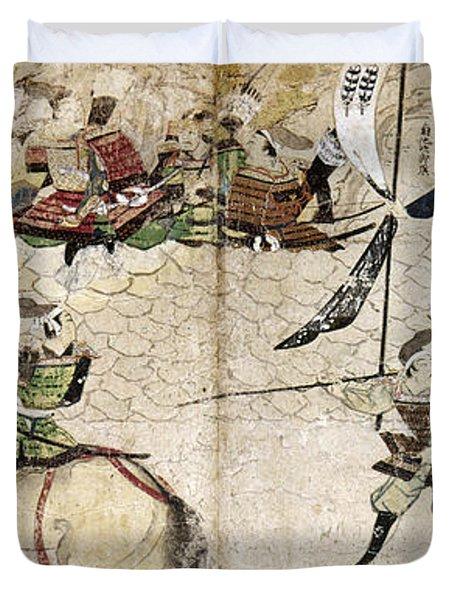 Japan: Mongol Invasion Duvet Cover