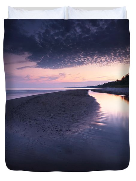 Long Point Beach Duvet Cover by Oleksiy Maksymenko