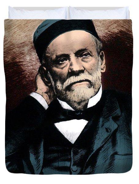 Louis Pasteur, French Chemist Duvet Cover by Science Source