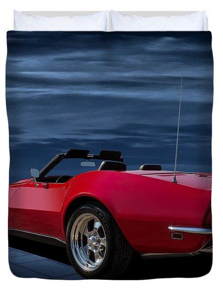 69 Red Duvet Cover